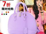 贝壳包2014韩版 水波纹手提包 范冰冰同款包糖果色单肩斜挎女包