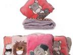 HWD北极熊大象老虎考拉长颈鹿毛绒抱枕加厚空调毯被子两用靠枕垫