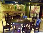 酒楼餐厅仿古餐桌扎啤烧烤桌椅农庄碳烧火锅桌石锅鱼美食餐桌椅