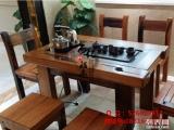 尚亿船木家具批发茶桌椅子组合价格客厅中式功夫泡茶桌