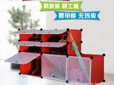 特价热卖 PP魔片组合衣柜 DIY格子收纳系列 衣柜书柜杂物柜