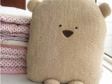 大脸方熊空调被 HR广告熊全棉空调被 靠枕 抱枕 车载两用空调被