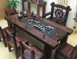 老船木家具船木茶桌小茶臺功夫茶幾戶外家具個性茶桌椅組合