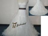 2015韩版新款抹胸绑带收腰鱼尾欧根纱拖尾新娘结婚婚纱礼服