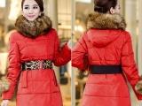 2013冬季新款大毛领中长款韩版羽绒服