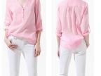 ASDS现货批发 2013新款欧美女衬衫 V领 套头8546