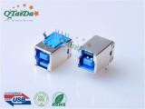 usb3.0插座连接器 USB 3.0 BF 180度焊线