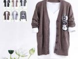 特价清仓 秋冬羊毛开衫 长袖外搭 性价比超高针织衫 V领毛衣低价
