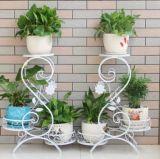 欧式铁艺实木 多层室内阳台花架 落地木质花架 绿萝花架子
