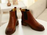 擦色高级PU短靴时尚潮流个性马丁靴中低跟2013爆款舒适女靴批发