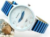 黑白条纹斑马纹性感皮带女表 休闲可爱学生手表批发 韩国时尚手表