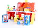3C正品 乐高式大颗粒积木 儿童早教 温馨家庭 益智玩具一件代发