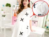 2014辣妈孙俪同款卫衣夏装时尚孕妇装喂奶衣外出哺乳上衣裙