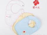 厂家批发供应婴儿全棉防水围兜围嘴 小圆点包边 可定做