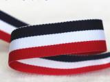 厂家直销多规格红白兰三色条纶间色带国旗带挂带奖牌织带DIY辅料