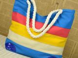 厂家生产批发 布艺 条纹 休闲包 手提包  色丁包 妈咪包 仿皮包