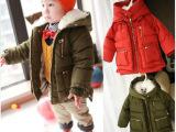 2014秋冬新品 儿童加厚棉衣 冬款棉风衣 新款儿童童装冬装批发