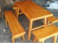 深圳木屋烧烤桌子定做 松木餐桌 找宜尚家具