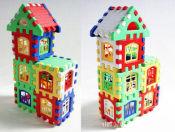 拼装积木屋形 DIY能认字母可搭建别墅24装 房子积木玩具批发0.13