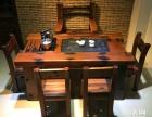 承德市老船木茶桌椅子仿古茶台实木沙发茶几餐桌办公桌家具博古架