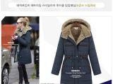 冬季新款韩版女装加厚羊绒内胆棉衣欧美风修身中长款连帽棉衣外套