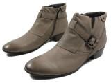 外销韩版潮男男靴短筒靴牛仔靴英伦高帮尖头休闲男靴潮流牛皮