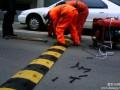 北京门头沟区减速带安装