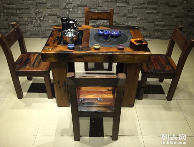 一品老船木功夫茶盘简约客厅茶台办公室功夫茶几泡茶桌茶