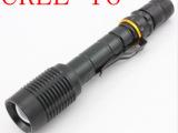 响尾蛇Z5 t6强光手电筒 强光手电筒500米 伸缩手电筒 手电