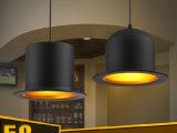 LED铝材吊灯 现代简约帽子吊灯 工业复古吊灯 餐厅酒吧吧台灯具