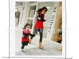 亲子装厂家直批 时尚韩版母女装磨毛卫衣皇冠印花母子装