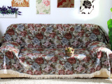 【厂家批发】新款高档窗帘布面料 涤棉提花欧式沙发布料