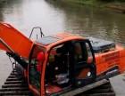 揭阳普宁周边水路挖掘机出租水上挖机出租江南科技有问必答