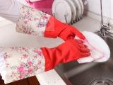 【丽嘉艺】**专利 花袖静电一体植绒保暖护手乳胶手套