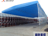 柳州大排档伸缩推拉篷 推拉遮阳棚 精工打造 质量有保证
