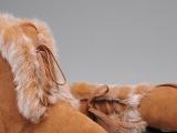 新品发布U*GG3586低筒真狐狸毛潮女雪地靴厂家批发一件代发