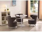 简个性创意接待桌椅时尚餐椅公司休息区会客洽谈桌椅一桌三四椅