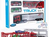 合金滑行货柜车 运输车套装带2赛车 可拆卸 淘宝热卖 地摊玩具