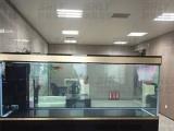 湖北武汉大中异型鱼缸,海鲜池酒店鱼缸定做