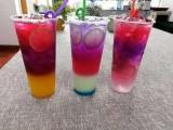 今夏流行的分层果汁是做的