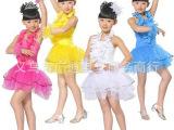 新款女童幼儿园表演服舞台服装 儿童演出服装现代拉丁舞蹈裙批发