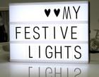 创意,个性礼物 表白留言DIY拼插LED字母灯箱 干电池款