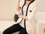 2014新款春装 韩版修身潮撞色大码 休闲小西装女士外套小西服