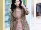 2013新款风衣韩版女装秋装外套中长款修身秋冬休闲女式风衣外套