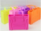 新款硅胶包糖果色笑脸果冻包手提囧字包囧脸包手提包女小包包