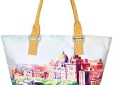 上海外滩|法莱曼莎/时尚帆布数码印花布艺休闲手提包|SM003-32
