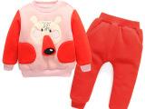 儿童韩版冬装套装男童女童新款加绒加厚卫衣