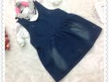 2014新款儿童韩版马甲无袖连衣裙 女童牛仔背心裙子 两件套童裙