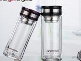 昂雄双层商务保温办公玻璃杯男女通用杯具320ml