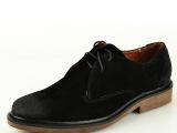 2014新款头层牛皮真皮外贸男鞋时尚商务擦色纯色前系带男士单鞋